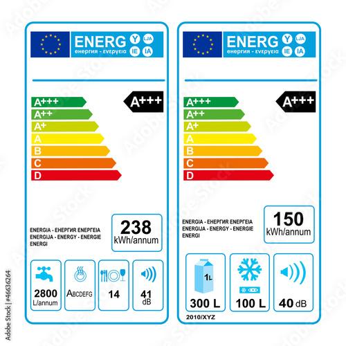 Nuove etichette classe di consumo energetico - Immagini di elettrodomestici ...