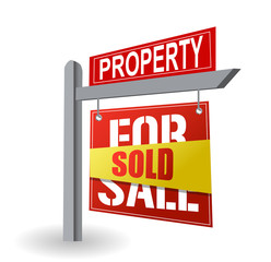 sold - for sale sign
