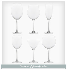 Set glass wine