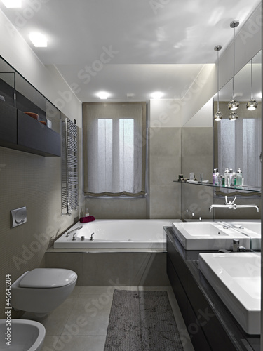 """""""bagno moderno con vasca da bagno"""" Immagini e Fotografie Royalty Free su Fotolia.com - File 46643284"""