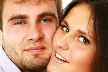 Close-up of beautiful young couple
