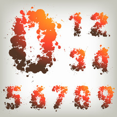 Vector illustration of numbers, numbers set, collection