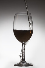 Glass and drink.