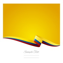 Abstract color background Colombian flag vector
