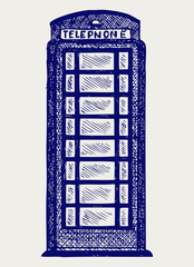 London pay phone. Doodle style