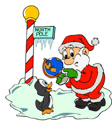 Santa Claus & Lost Penguin
