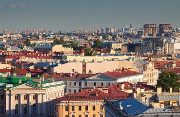 Top view of St. Petersburg