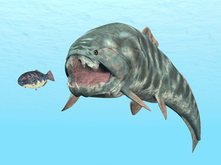 Dunkleosteus While Hunting