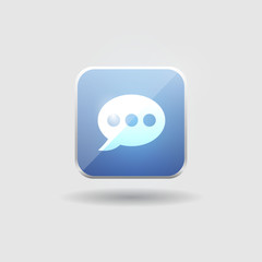 Bubble talk user interface icon