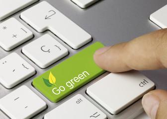 Go green keyboard. Finger