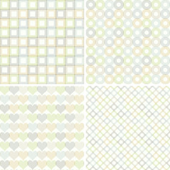 Set of seamless pattern with  geometric shapes