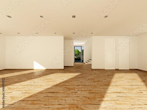 """Wohnzimmer mit Esszimmer ohne räumliche Trennung 3D"""" Stockfotos ..."""