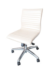 The office chair by white leather Isolated