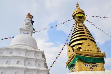 stupa and golden temple, nepal