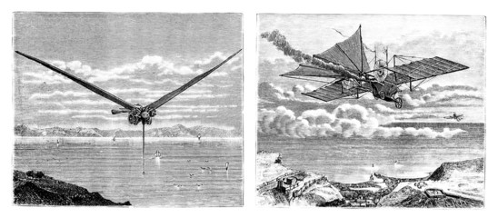 Aeroplanes Projects - 19th century