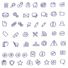 Vector Web icon doodles