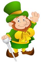 Foto auf Gartenposter Die magische Welt St. Patrick's Day - Cartoon Character- Vector Illustration