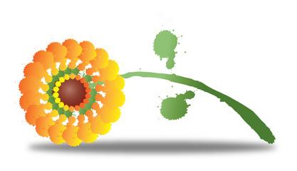 Vector sunflower