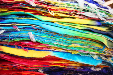 Colorful paper for sale in Thailand.