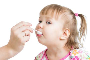 doctor giving drug to kid girl