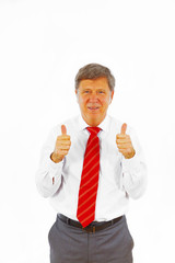 positive looking business man in office dress