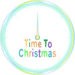 christmas clock with christmas greeting words