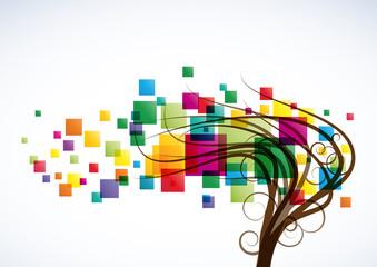 Digital tree background