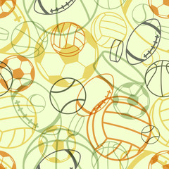 Sports seamless pattern. Vector illustration (eps10).