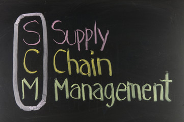 Chalk drawing - SCM, supply chain management