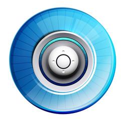 Blue glossy control panel
