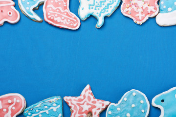 colored glazed Christmas gingerbread