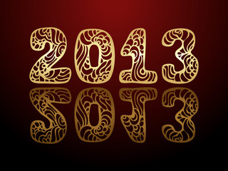 vector New Year 2013