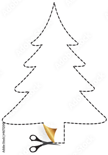 Disegni Di Natale Vettoriali.Albero Di Natale Tratteggiato Immagini E Vettoriali Royalty Free Su