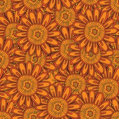 Floral seamless abstract hand-drawn pattern