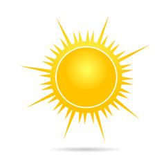 sun vector illustration in yellow part one
