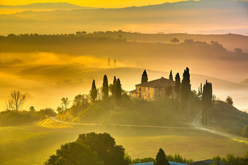 Foto op Canvas Toscane Tuscany at early morning