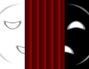 maschere da teatro