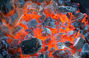 Aluminium Prints Grill / Barbecue barbecue fire