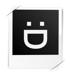 Polaroid Gesicht lachen