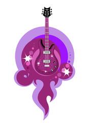 stylized  acustic guitar