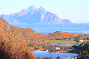 Lakes and fjords of Lofoten