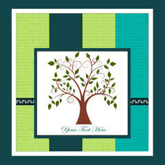 Card with a tree