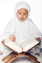 Girl Reading the Quran