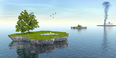 Insel, Umweltschutz, Atom, Naturschutz, Öko,