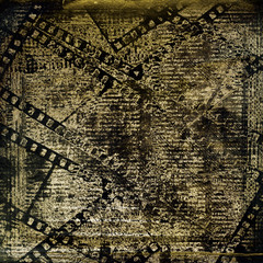 Fotobehang Kranten Old papers and grunge filmstrip on the alienated background
