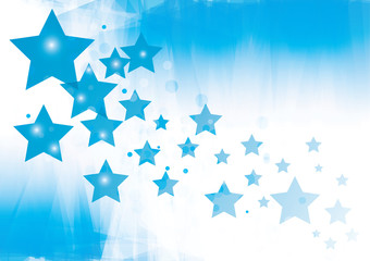 Abstract blue with stars vector