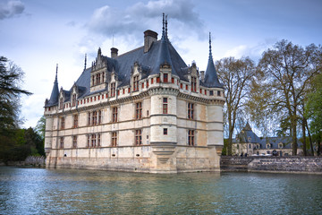 Azay-le-Rideau castle, Loire Valley, France.