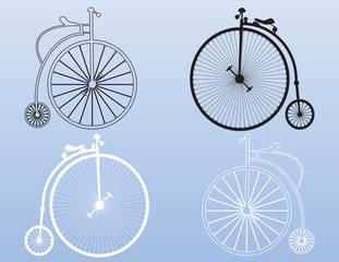 Vintage penny-farthing shapes