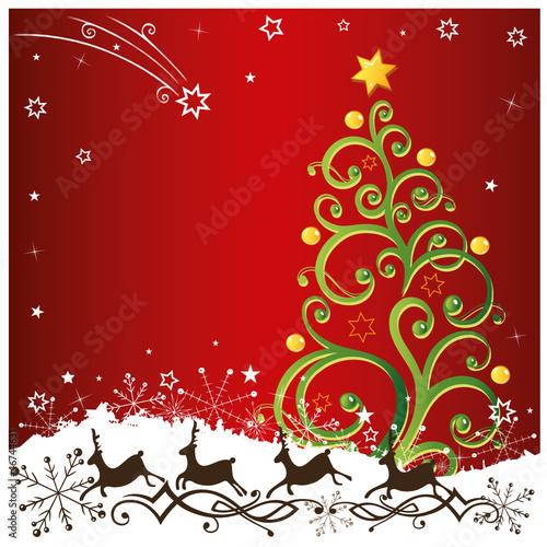 weihnachten rentiere tannenbaum schnee stockfotos und. Black Bedroom Furniture Sets. Home Design Ideas