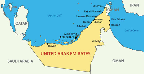 United Arab Emirates - vector map